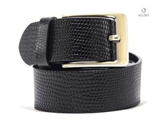 Casual Pebbled Leather Belt